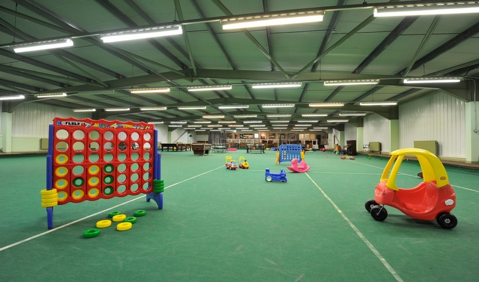 Indoor games and sports area at Moonfleet Manor