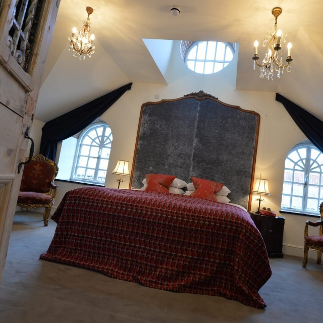The grand coach house room at Moonfleet Manor luxury hotel in Dorset