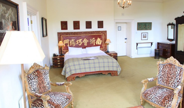 Deluxe family room at Moonfleet Manor country hotel.
