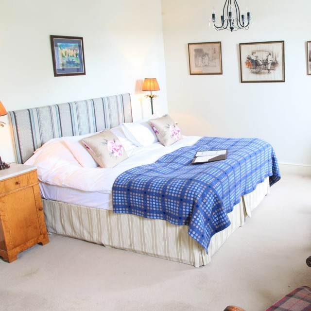The deluxe two-bed family room at Moonfleet Manor luxury hotel in Dorset
